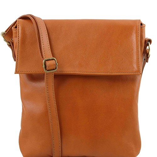 Tuscany Leather - Morgan - Sac bandoulière en cuir - Cognac