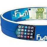 #1 Laufgürtel (Blau - L) ★ Premium Fitness Gürteltasche große Telefone geeignet, Inclusive dem...