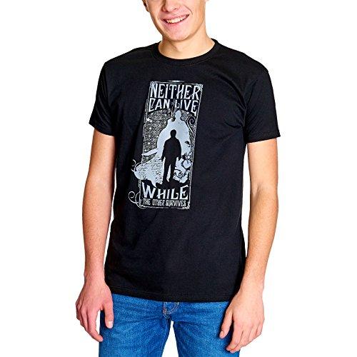 Elbenwald Harry Potter Herren T-Shirt Prophecy Lord Voldemort Baumwolle schwarz - XXXL