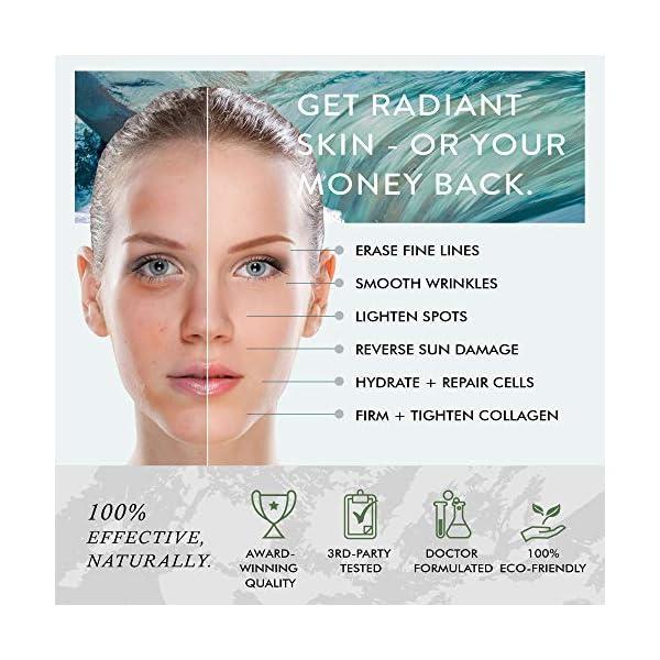 Sérum Facial Antiedad Vitamina C Eclat– Sérum Vitamina C Pura 100% con Ácido Hialurónico Ácido Ferúlico para Eliminar Líneas de Expresión y Arrugas Sérum Hidratante Fácil Absorción para Ojos