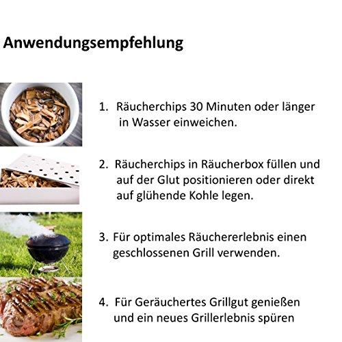 51Dsu9CLOML - BBQ Räucherchips Mix für tolles Raucharoma beim Grillen - 100% natürliches Smoker-Holz | Ergiebige und sparsame wood chips (Apfel, Buche & Kirsche) für Stand- und Kugel-Grill sowie Smoker | 3 x 500g