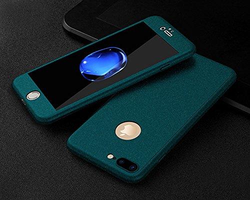 Custodia Cover iPhone SE/5S/5 360 gradi Protezione Silicone Morbida,Ukayfe [3 in 1] Completa Glitter Sparkle Bling Cristallo Lusso di Glitter Angelo Disegno HD Full Body Cover per iPhone SE/5S/5 Trasp Roccia Verde