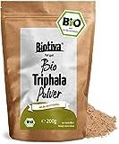Triphala Bio Pulver - 200g - aus Amalaki, Haritaki, Bibhitaki - Ayurveda Biotriphala - Abgefüllt und Kontrolliert in Deutschland (DE-ÖKO-005) - 100% Vegan