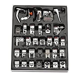 32Pcs Sewing Machine Presser Foot Set For Janome Brother Singer Domestic Part (32pcs)