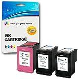 Printing Pleasure 3 XL Compatibili HP 901XL Cartucce d'inchiostro Sostituzione per Officejet 4500 J4500 J4524 J4540 J4550 J4580 J4624 J4660 J4680 J4680C G510a G510g G510n - Nero/Colore, Alta Capacità