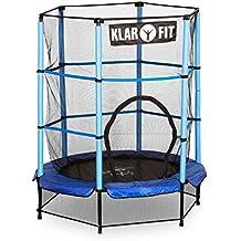 Klarfit Rocketkid cama elástica infantil con red de seguridad (140 cm de diámetro, apta