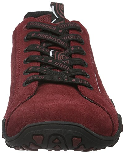 Mephisto Funny Trend C.Suede NW 48 DK Winter Red, Baskets Basses Femme Rouge (Dk Winter Red)