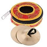 Homyl Mini Kupfer Zimbeln Becken mit Tasche Set Percussion Spielzeug