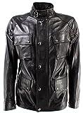 Belstaff Herren Jacken 71050387 Woodbridge Jacket Man Black Leder Schwarz Neue