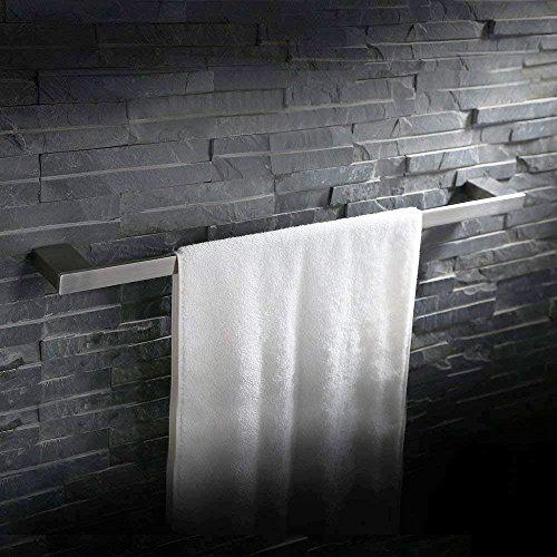 Homelody 60cm SS304 Edelstahl Handtuchstange Handtuchhalter Wandhandtuchhalter Handtuchständer Wandhandtuchstange Badetuchstange Wandmontage Handtuch Halter f.Badzimmer