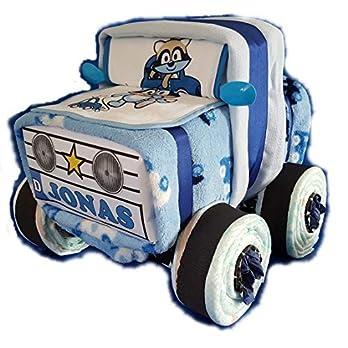 Windel-Auto in Blau