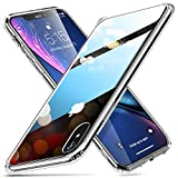 ESR iPhone XR Hülle, Hochwertig Gehärtetes Glas Handyhülle TPU Rahmen [Stoßfest] [Kratzfest] Crystal Clear Durchsichtige Handy Schutzhülle Kabelloses Laden Unterstützen Glashülle (6,1 Zoll) - Klar