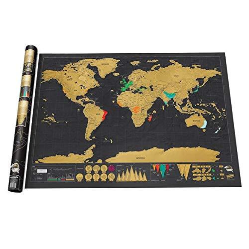 JohnJohnsen Arañazos Mapa Oro Mapa arañazos Tamaño