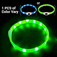 LaROO LED Hundehalsband Blinkende Sicherheit Hundehalsband für Hund und Katzen (1PCS Farbe Variieren)