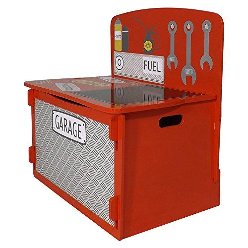 Jungen Spielzeug Truhen Für (Kidsaw LTD Kidsaw, Racing Car PLAYBOX, Holz, rot, 39x 60x 60cm)
