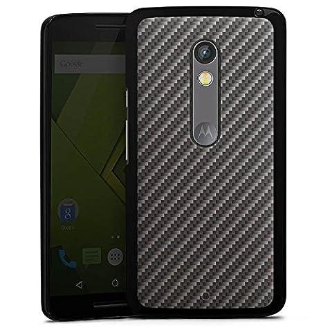 Motorola Moto X Play Hülle Case Handyhülle Carbon Look Schwarz