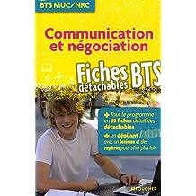 Communication et négociation, fiches détachables BTS MUC / NRC