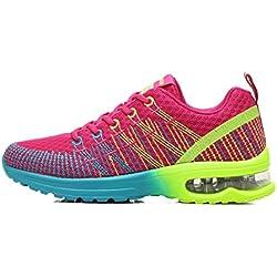 Zapatos de Running Para Mujer Zapatillas Deportivo Outdoor Calzado Asfalto Sneakers Rojo 36