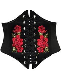Corsetto stringivita elasticizzato, circonferenza ampia, disponibile nei colori: rosso, nero e bianco
