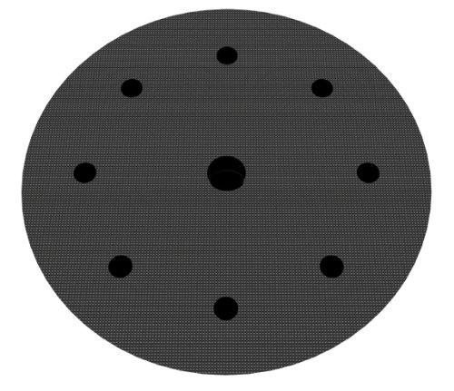 Preisvergleich Produktbild Softauflage Ø 200mm 8+1-Loch Interface-Pad für Schleifteller Polierteller Stützteller für Klett-Schleifscheiben - DFS