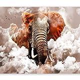 murando Papier peint intissé éléphant 300x210 cm Décoration Murale XXL Poster Tableaux Muraux Tapisserie Photo Trompe l'oeil Ornament Ciel g-C-0087-a-b
