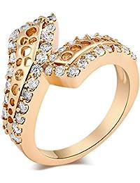 EOZY Bague Magnifique Fiançailles Bijoux Fantaisie Saint-Valentin Cadeau Femmes Or Mariage