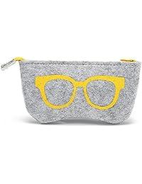 FERFERFERWON - Funda portátil para gafas de sol (fieltro), color amarillo