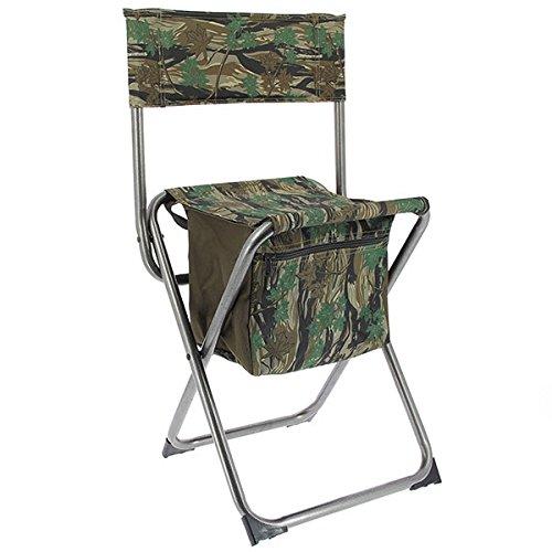 g8ds® Angelstuhl mit integrierter Tasche/Staufach Outdoor Stuhl Angeln leicht ca 2 kg