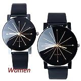 Franterd® Herren-Armbanduhr Quarzuhr Armbanduhr Elegant Uhr Modisch Zeitloses Design Klassisch Leder Schwarz -