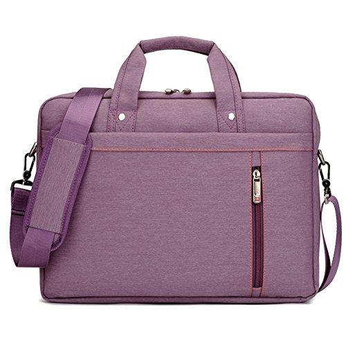 Lemberg) wasserabweisend 35,6cm Business Notebook shoudlder Tasche Messenger Umhängetasche Aktentasche rosa rose violett