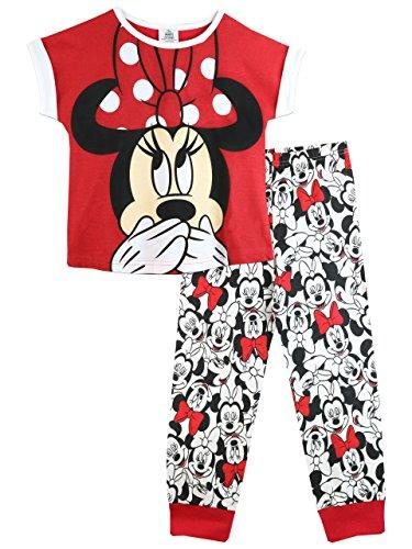 Disney Minni Maus Mädchen Minnie Mouse Schlafanzug 134cm (Maus Pj Minnie)