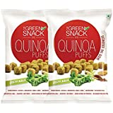 [Sponsored]The Green Snack Quinoa Puffs Zesty Kale (Pack Of 2) 50g Each (Healthy Snack)
