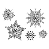 Unbekannt Spellbinders Schneeflocken Stempel & sterben Set, Mehrfarbig
