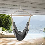 [casa.pro]® siège suspendu XXL (100 x 100 cm)(gris) siège suspendu balançoire suspendue fauteuil hamac
