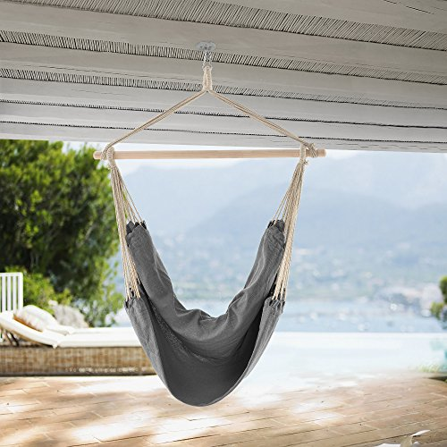 [casa.pro] hammock / swinging chair / hanging chair / relaxing chair / garden / outdoor / grey