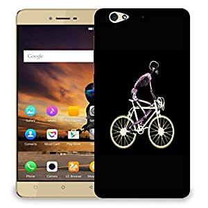 Snoogg Skeleton Riding Bicycle Designer Protective Back Case Cover For GIONEE S6