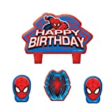 American Greetings 171355-55, Candeline con Spiderman, 4 Pezzi