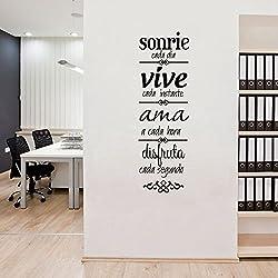Pegatina cita inspiradora para dormitorios despachos 57 x 17 cm de OPEN BUY