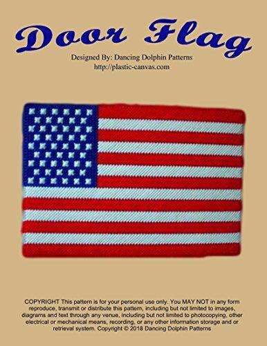 Door Flag: Plastic Canvas Pattern (English Edition) (Flag Service Star)