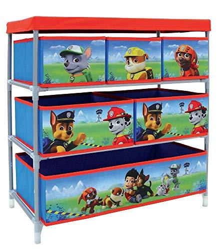 Fun House 712537 Pat Patrouille Etagère de Rangement avec 6 Casiers pour Chambre d'Enfant