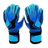 Seasaleshop Kinder Torwarthandschuhe Fußball-Handschuhe Tormannhandschuhe Fingersave Torwart Handschuhe Blau und Rot
