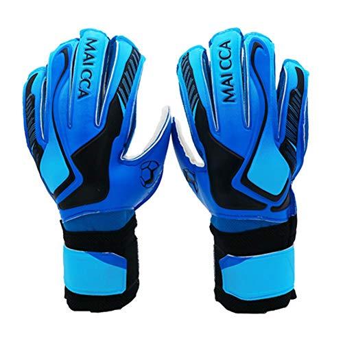 Ridecyle Kinder Torwarthandschuhe mit Fingerrücken für hervorragenden Schutz gegen Verletzungen, Kinder, blau, 5#