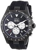 Cerruti - CRA084F224G - Montre Homme - Quartz - Analogique - Chronomètre - Bracelet Silicone Noir