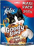 Felix KnabberMix Original Katzenleckerlis, Maxi-Pack, 5er-Pack, je 200 g
