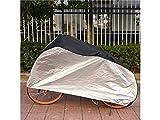 JKHGJUH Durable Fahrrad Motorrad Sonnenschutz Staubdicht und Wasserdicht Cover (Schwarz/Silber)