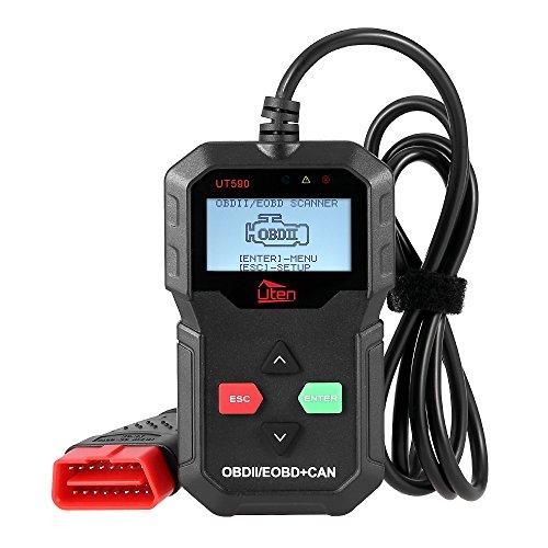 Mbuynow OBD2 Diagnosegerät OBD2 Scanner, Uten Fehlerauslesegerät KFZ mit OBD2 USB zum Lesen und Löschen des Motorfehlercodes 16 polig OBD Schnittstelle Test
