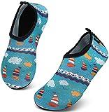 SAGUARO Escarpines Niño Niña para Buceo Snorkel Surf Natación Piscina Vela Mares Rocas Río Zapatos para Agua Bebe Calzado Playa Zapatillas Deportes Acuáticos(070, 20/21 EU)