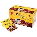 قهوة سوداء لينجزي 2 في 1 بخلاصة الجانوديرما من دي اكس ان (4.5 غرام × 20 كيس)