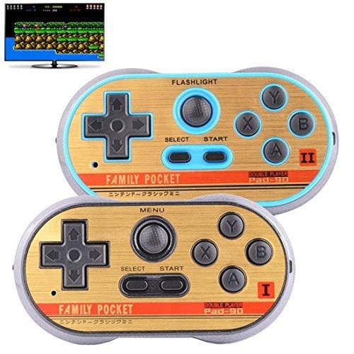 Tv-video-spiele (ZHISHAN Retro Spiele Controller Mini Classic Handheld Spielkonsole Spielzeug für Kinder Gamepad Joystick Unterstützung Dual Kampf Laden in 260 TV Video Spiele Kindheit Plug & Play Gaming Station (Blau))