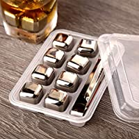 Placehap® - Cubitos de hielo de acero inoxidable 304 para whisky de Vodka, enfriador